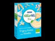 Nestlé Naturnes Papilla Bio Trigo y Avena Sabor Vainila + 6m (240 g)