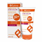 Farline Crema Facial solar SPF 50+ con color (50 ml)