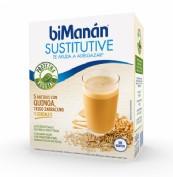 BiManán Sustitutive Batido Quinoa,Trigo, Sarraceno y Cereales (6 sobres)