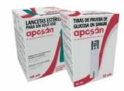 Aposán Lancetas Estériles para Glucómetro (100 ud)