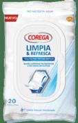 Corega Toallitas Limpiadoras para prótesis dentales (20 ud)