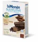 BiManán Sustitutive Barritas Sabor Cacao (6 barritas)
