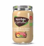 Nutribén Ecopotito Verduras de la huerta con ternera ecológica +6m (235 g)