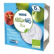 Nestlé Naturnes Tarrina Bio postre lácteo Natural (90 g x 4 ud)