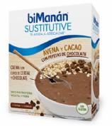 Bimanán Sustitutive Crema de avena con Cacao con Pepitas de chocolate (5 sobres)