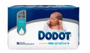 Dodot Pro-Sensitive Recién nacido Talla 1 2 - 5 kg (38 ud)