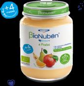 BioNubén Ecopuré 4 Frutas Ecológicas +4m (200 g)