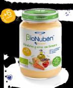 BioNubén Ecopuré Verduras y Arroz con Ternera +6m (250 g)