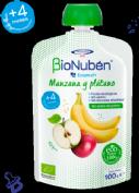 BioNubén EcoPouch Bolsita Manzana y Plátano +4 m (100 g)