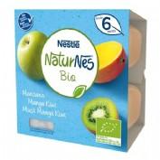 Nestlé Naturnes Bio Tarrina Manzana, Mango y Kiwi +6m  (90 g x 4 ud)