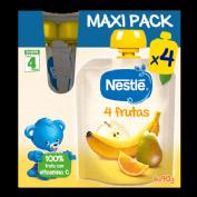 Nestlé MAXI PACK Bolsita 4 Frutas +4 m (90 g x 4 ud)