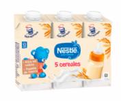 Nestlé Leche y 5 Cereales  (180 ml x 3 bricks)