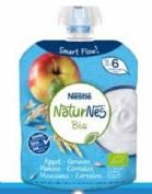 Nestlé Naturnes Postre Lácteo Bolsita Manzana y Cereales +6m  (90 g)