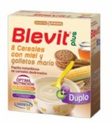 BLEVIT PLUS DUPLO 8 CEREALES+MIEL+GALLETA (600 g)