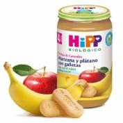 HiPP Tarrito Bio Manzana y Plátano con galletas +4m (250 g)