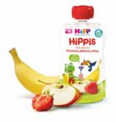 HiPP Bolsita Hippis Manzana, Plátano y Fresa +4 m (90 g)