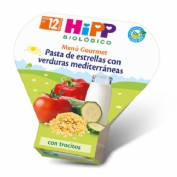HiPP Menú Gourmet: Pasta de estrellas con verduras mediterráneas +12m (260 g)