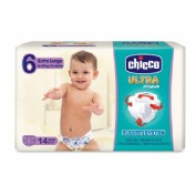 Chicco Pañales Talla 6 Ultra Soft Extra Large 16-30 kg (14 ud)