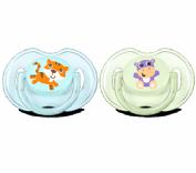 Avent classic Safari 2 chupetes 0-6 meses niño SCF169/25