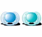 Avent Chupete Ultrasoft de Silicona 6-18 m Azul (2 ud)