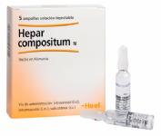 Hepar Compositum Heel (5 ampollas x 2,2 ml)