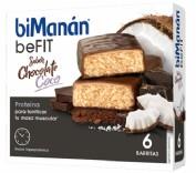 BiManán PRO Barrita Chocolate y Coco - Hiperproteica e hipocalórica (27 g x 6 barritas)