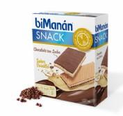 BiManán Snack Barquillo Chocolate con leche Sabor Vainilla (6 ud x 20 g)