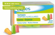 Quies Tapones Oidos Espuma Color Fluorescente (6 ud)