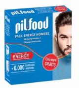 Pilfood Pack  Energy 1 Mes Hombre 60 comprimidos + champú (200 ml)