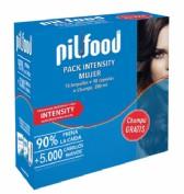 Pilfood Pack Intensity Mujer: 90 cápsulas + 15 ampollas + champú (200 ml) - caída intensa