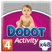 Dodot Activity Talla 4 8 - 14 kg (48 ud)