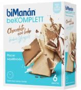 BiManán BeKomplett Snack Chocolate con leche Sabor Yogur (6 ud)