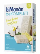 BiManán BeKomplett Barritas Sabor Limón y Coco (6 ud)