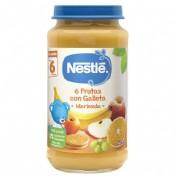 Nestlé Puré Merienda Postre de 6 frutas con galleta + 6m (250 g)