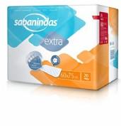 Sabanindas Extra Protector de Cama 60 x 75 cm (20 ud)