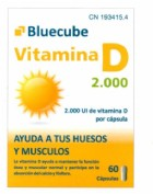 Bluecube Vitamina D 2000 (60 cápsulas)