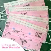 Mascarilla Quirúrgica INFANTIL Rosa Pack de 10 unidades