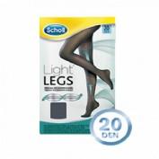 Medias e.t. cint comp ligera 20 den - scholl light legs (negro t - l)