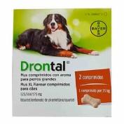 Drontal plus Aroma Perros Grandes (2 comprimidos) vet