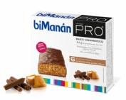 BiManán PRO Barrita Chocolate Caramelo - Hiperproteica e hipocalórica (27 g x 6 barritas)