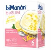 BiManán Natillas BeSlim Sabor Limón (6 sobres)