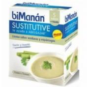 BiManán Sustitutive Crema de Verdura y Esparrágos (250 g 6 sobres)