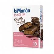 BiManán Sustitutive Barrita Chocolate negro fondant (40 g x 8 barritas)