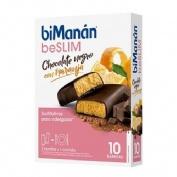 BiManán Sustitutive Barrita Chocolate negro y naranja (40 g x 8 barritas)